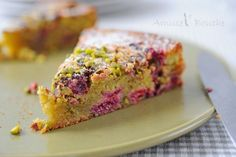 Gâteau moelleux pistache et framboise pour Clara - Amuses bouche