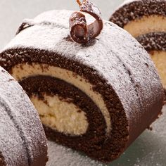 Chocolate Swiss Roll Recipe from GLORIOUS GOODIES
