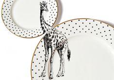 Giraffe plate set by yvonneellen on Etsy
