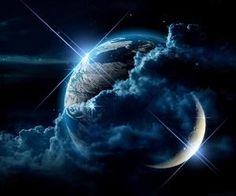 #nightsky #bluesky #clouds #stars #moon