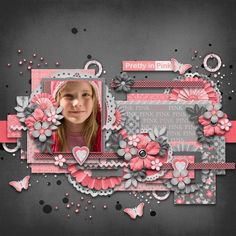 #papercraft #scrapbook #layout  cs-prettyinpink