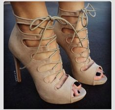shoes high heels, nude heels, laced up heels nude lace up heels