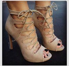 shoes high heels, nude heels, laced up heels nude lace up heels