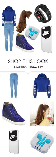 """Nike"" by azura123 ❤ liked on Polyvore featuring River Island, New Look, Giuseppe Zanotti, NIKE and PhunkeeTree"