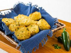 Jalepeno-Cauliflower-Biscuits---Golin-Full - get some great ideas for #meatlessmondaynight snacks and meals.