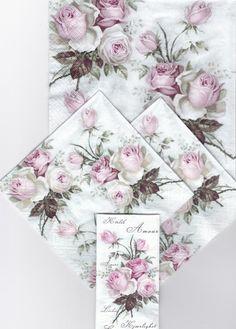Set van 4 stuks  mooie decoupage servetten  door Dalilasdecoupage
