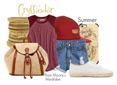 """""""Gryffindor: Summer"""" by evalupin ❤ liked on Polyvore featuring Casetify, Brixton, Chamak by Priya Kakkar, American Eagle Outfitters, Lucky Brand, Flamingos, women's clothing, women's fashion, women and female"""
