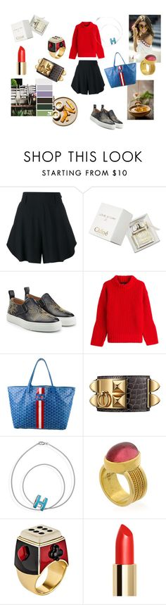 """""""Countryside"""" by maria-chamourlidou ❤ liked on Polyvore featuring Chloé, Dsquared2, Goyard, Solange Azagury-Partridge and country"""