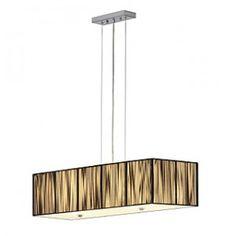 LASSON, pendulum lamp, PD-1, square, beige, 4xE27