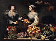 - The Fruit and Vegetable Costermonger - 1631.Louise Moillon (1610–1696) a French painter. She became known as one of the best still life painters during her time. She worked for King Charles I of England, as well as the French nobility. Moillon came from a strict Calvinist Huguenot family. Her father, brother Isaac, and stepfather were both paint dealers and artists themselves Louise (also known as Louisa) learned to paint from her father Nicholas & Francois Garnier ( Huguenot )