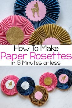 How To Make Paper Rosettes With The Cricut Maker - Tastefully Frugal How To Make Rosettes, How To Make Paper, Pony Party, Diy Fashion Projects, Craft Projects, Fashion Ideas, Fashion Tips, Diy Paper, Paper Crafts