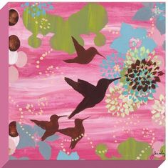 Oopsy Daisy Palm Beach Hummingbird in Flight Stretched Canvas Wall Art by Jennifer Kiraly, 14 by 14-Inch by Oopsy daisy, Fine Art for Kids. $74.20. Made in the Unites States. No framing required. Sawtooth makes it easy to hang. Wipes clean with damp cloth. Giclee on canvas. Our stretched canvas wall art reproductions are created in Oopsy daisy's San Diego studios where we print in the best digital method currently available, achieving great clarity and color resoluti...