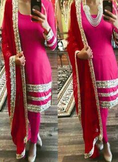 6ff229178 Decent Pink Coloured Georgette Embroidery Indian Designer Salwar suit At  Best Prices By Uttamvastra - Online Shopping For Women