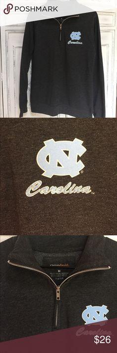 UNC North Carolina Tarheel Quarter Zip Sweatshirt UNC North Carolina. Size medium. 60% cotton and 40% polyester. Camp David brand. Great condition! Quarter zip style. Tops Sweatshirts & Hoodies