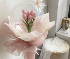 100 images about 𝘗𝘪𝘯𝘬˚♡ on We Heart It Balloon Flowers, Balloon Bouquet, Balloon Arrangements, Flower Arrangements, Bubble Balloons, Birthday Balloon Decorations, Balloon Gift, Custom Balloons, Diy Bouquet