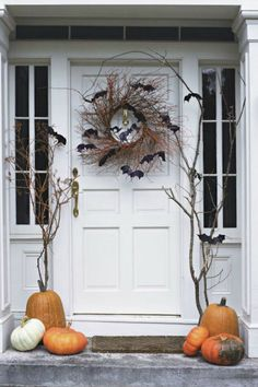 It's October! A bright pop of orange at the front door is the perfect accent to add a little fun to your curb appeal. Here are a dozen of my favorite looks from pinterest to get you in the mood…