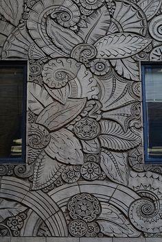 Art Deco Design, Glass Design, Art Nouveau, Sculpture Art, Sculptures, Buddha Wall Art, Cement Art, Estilo Art Deco, Royal Art