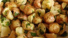 petrezselymes újburgonya, petrezselymes újkrumpli Potato Salad, Side Dishes, Food And Drink, Potatoes, Vegetables, Ethnic Recipes, Drinks, Drinking, Beverages