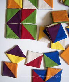 Tangram Fabric Puzzle