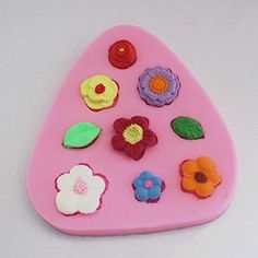 Longzang Small Flowers Leaf Silicone Mold Sugar Craft DIY Gumpaste Cake Decorating Clay -- Read more  at the image link.