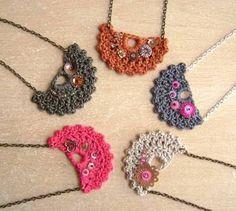 Resultado de imagen para necklace  crochet