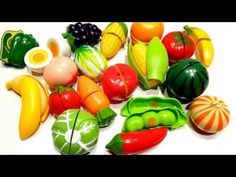 Velcro Toys, Learn Names of Fruits & Vegetables, Velcro Food Toys and Toy Cutting Playset - YouTube