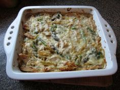 Chicken Asparagus Pasta Bake - great way to use leftover chicken