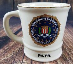 Papa Dad Grandpa Pa Fbi Federal Bureau Of Investigation Mug Tea Coffee Gift Dad