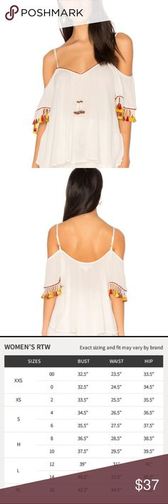 e572aa8814 Band of Gypsies Tassel Trim Cold Shoulder Blouse One tassel was missing.very  good condition