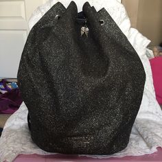 Victorias Secret draw string back pack Black VS backpack Victoria's Secret Bags Backpacks