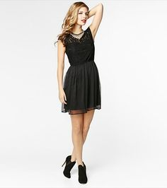 #DYNHOLIDAY Lace and Chiffon Dress