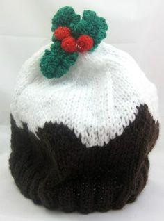 Child's Hat – Christmas Pudding Beanie  #free #knitting #pattern