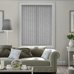 Medina Warm Grey Vertical Blind from Blinds 2go