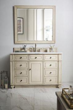 """Bristol 48"""" James Martin Vintage Vanilla Bathroom Vanity - The Vanity Store Canada"""