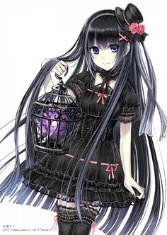 Find images and videos about anime, kawaii and manga on We Heart It - the app to get lost in what you love. Manga Anime, Manga Kawaii, Kawaii Anime Girl, Manga Girl, Anime Girls, Anime Child, Gothic Anime Girl, Gothic Girls, Gothic Lolita