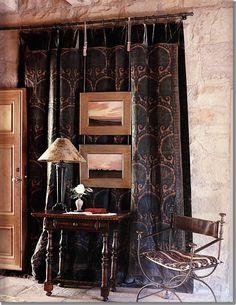 John Saladino - interesting way to close up a doorway