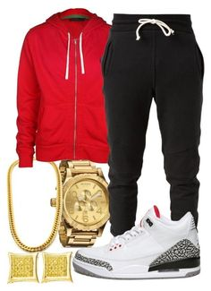 """Untitled #40"" by young-rich-nvgga ❤ liked on Polyvore featuring Nixon, Polo Ralph Lauren, John Elliott and NIKE"