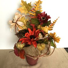 Autumn Mini floral arrangement Thanksgiving by CarolaFlowerDesigns, $28.00