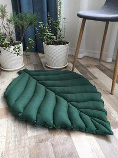 Jouer coton / tapis de lin tapis de feuilles de lin pour | Etsy