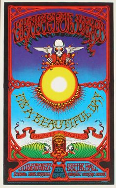 Grateful Dead concert poster, Honolulu International Center (Honolulu, HI) Jul 25, 1969