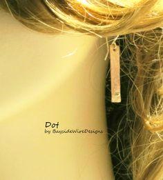 Eco Friendly Dangle Earrings Recycled Copper Dot Minimilist Earrings