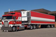 Kenworth Aerodyne Cabover old school- with matching trailer Don't see many of these on the road anymore!