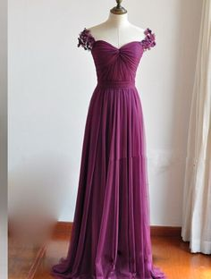 Handmade Prom Dress,Cap Sleeve Prom Dress,Long Evening Dress,Evening