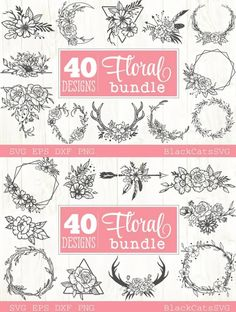 Floral Frames, Funny Drawings, Shoe Pattern, Free Graphics, Black And White Design, Illustrations, Scene Creator, Line Design, Journal Cards