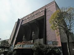 Abandoned Ciné Ópera movie theater in Mexico City, Mexico. It opened on March 11 of 1949. It was one of the most popular theaters in Mexico City for decades. From 1993-1998, it was a concert hall. It closed in 1998. It was supposed to be turned into a cultural center, but it is in such an advanced state of deterioration that all such plans have stalled due to lack of funding.
