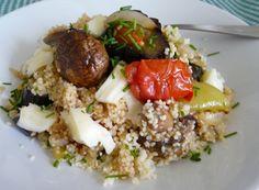Milujem pečenú zeleninu... len tak samotnú alebo ako prílohu k mäsu... dnes som pripravila pečenú zeleninu s kuskusom... ten môj si k tomu ...