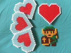 Nintendo Legend of Zelda perler bead coasters magnet Link