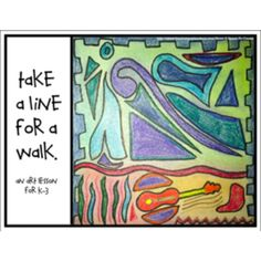 Paul Klee Art Lesson; Take a Line for a Walk
