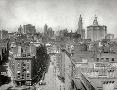 New York skyline from Manhattan Bridge, 1915