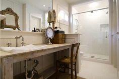 Old table w/ modern sink; Ginger Barber